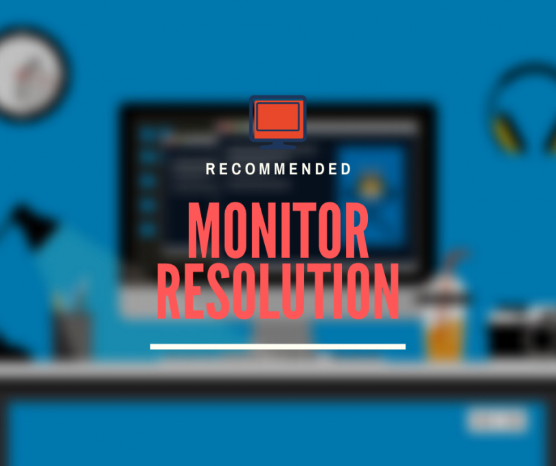 Minimum recommended monitor resolution according to size